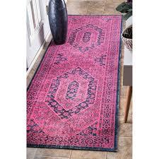 Overstock Com Rugs Runners Nuloom Vintage Persian Distressed Pink Runner Rug 2 U00278 X 8