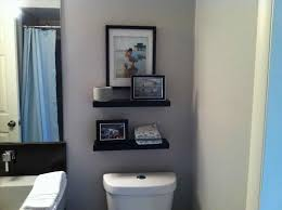 bathroom floating shelves i had debated with just hanging one