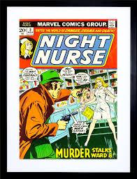 comic book night nurse murder stalks ward eight crime frame art
