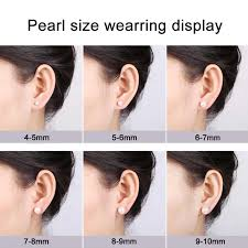 6mm stud earrings classic aaa white freshwater cultured pearl stud earrings