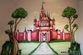 fresque murale chambre fresque murale en trompe l œil dans une chambre d enfant