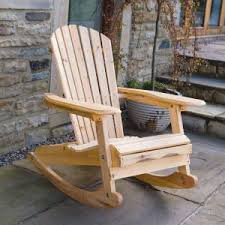 Outdoor Furniture Rocking Chair by Wooden Garden Rocking Arm Chair Outdoor Wood Adirondack Rocker