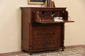 Cherry Secretary Desk by Sold Empire Cherry U0026 Mahogany 1840 U0027s Antique Butler Secretary