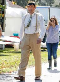 ben affleck suits up in 1920s attire for first day of filming live