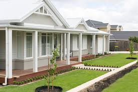 exterior house colors for ranch style homes australian hamptons style facade garden ideas pinterest
