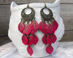 Pink Gypsy Chandelier Pink Chandelier Etsy