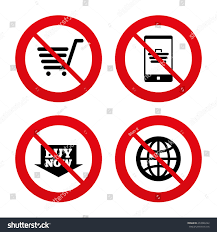 no ban stop signs shopping stock vector 272846222