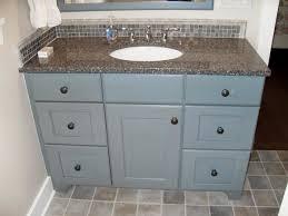 Repainting Bathroom Cabinets Lovable Blue Painted Bathroom Vanity From Plywood Board Using Duck