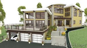 Split Level Front Porch Designs by Chief Architect Home Design Software Samples Gallery