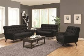 Simple Black Sofa Set Black Sofa