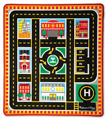 Buy Round Rug by Amazon Com Melissa U0026 Doug Round The City Rescue Rug With 4 Wooden