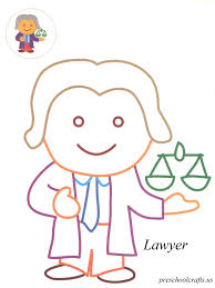 lawyer coloring pages preschool crafts