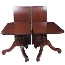 henkel harris mahogany pedestal dining table at 1stdibs