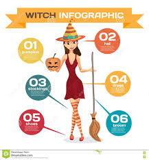 stockings halloween infographic set with elements costume for girls on halloween stock