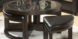 Brown Ottoman Coffee Tables Pretty Alluring Glorious Laudable Round Brown