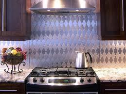 metal tile backsplash kitchen granite countertop wall mount range