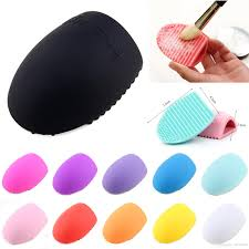 egg shaped makeup brush cleaner tools glove scrubber wash cleaning