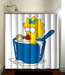 Simpsons Bathroom The Simpsons Maggie Cute Kids Shower Curtain Bathroom Home Decor
