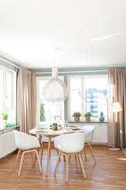 Simple Beautiful Dining Room Modern Scandanavian Scandinavian Beauty Reflected In A Simple Apartment With Shades Of