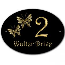 butterfly design house gate door plate plaque sign can be