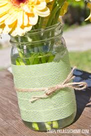 jar vase easy diy washi jar vase a linky party