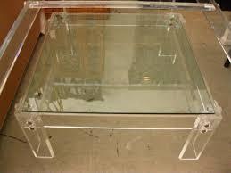 square lucite coffee table lucite coffee table circa who