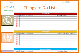 6 to do template itinerary template sample