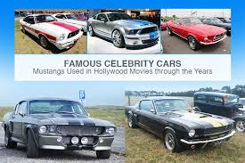famous celebrity cars mustangs used in hollywood movies