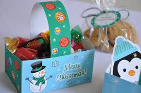 let it snow christmas pdf printable gift basket treat box