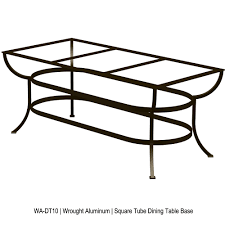 Ow Lee San Cristobal by Ow Lee Square Tube Aluminum Dining Table Base For Expanding Tops