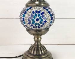 turkish mosaic lamp etsy