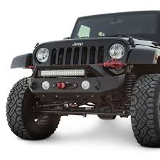 jeep rubicon winch bumper ici jeep wrangler 2007 2017 magnum mid width black front winch