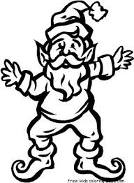 christmas elves father dancing coloring pages kidsfree