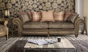 Leather Sofa Fabric Leather Sofa With Fabric Cushions 70 With Leather Sofa With Fabric