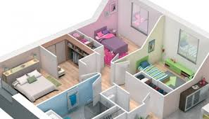 plan maison simple 3 chambres attrayant plan maison simple 3 chambres 9 plan maison 3d maison