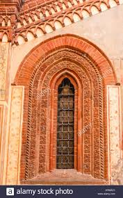 medieval decorations window of gothic style of medieval age with decorations made of
