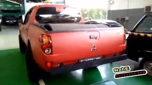 mitsubishi sticker body modification mitsubishi triton cuting sticker youtube