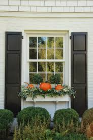 Metal Window Boxes For Plants - pumpkins in the window box for outside fall decor fall