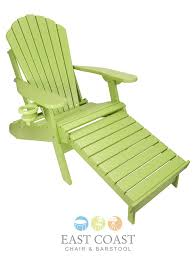 Adirondack Bar Stools Outer Banks Poly Lumber Folding Adirondack Chair With Integrated