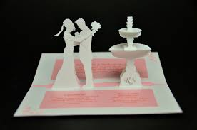 wedding cards for and groom wedding invitation pop up card and groom