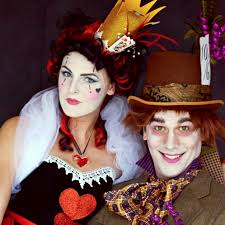 mad hatter and queen of hearts couples halloween costume ideas