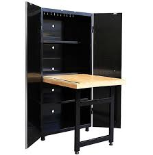 husky adjustable work table husky storage cabinet with fold out workbench