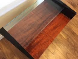 Koa Laminate Flooring Sold Henredon Koa Wood U0026 Black Lacquer Cabinet Modern To Vintage