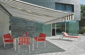 Striped Awning Markilux Es 1 Patio Awnings Roché Awnings