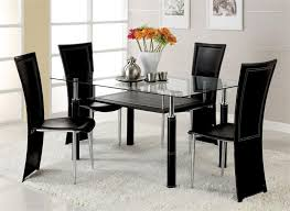 dinner table set glass dining table and chairs set prepossessing decor stunning glass