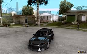 mitsubishi evo custom lancer evo vii for gta san andreas