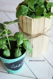 diy wood shim herb garden planter my diy envy
