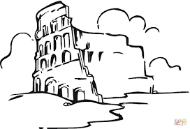 colosseum in the clouds coloring page free printable coloring pages