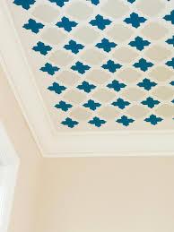 stencil fun pattern your ceiling hgtv