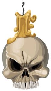 halloween png transparent halloween skull with candle png clipart image gallery